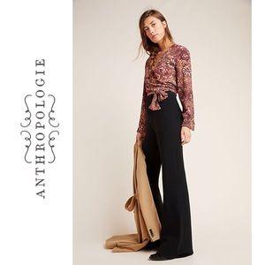 Chiara Knit Bootcut Trousers Black Anthropologie M